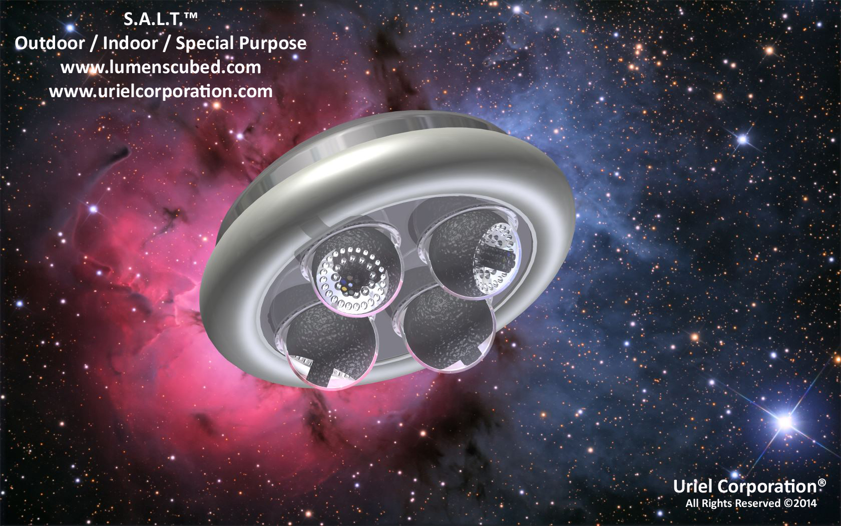 SERVO / STEPPER ASSISTED LIGHTING TECHNOLOGY (S.A.L.T.)™ OUTDOOR-INDOOR-SPECIAL PURPOSE ROUND LED LIGHTING