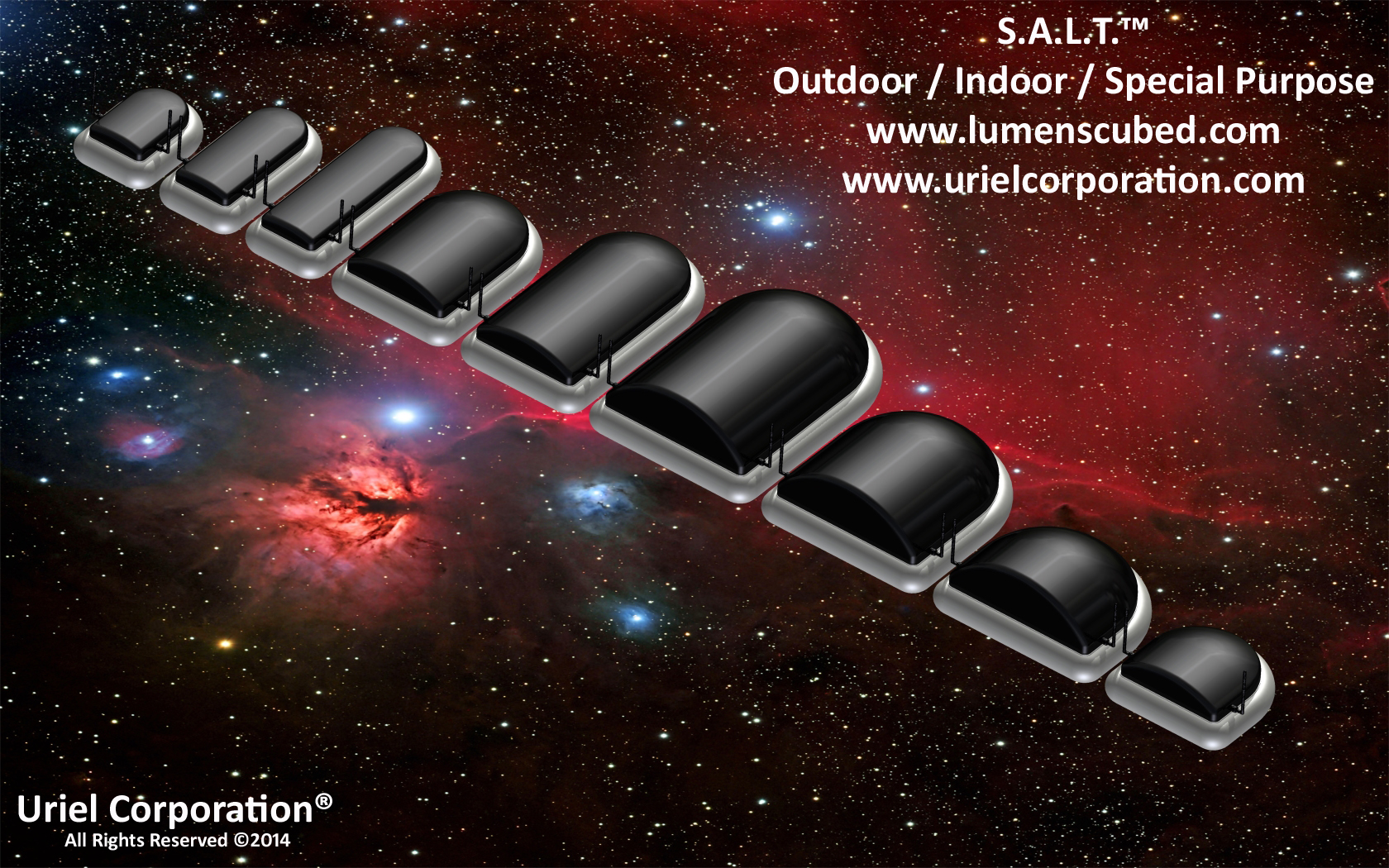 SERVO / STEPPER ASSISTED LIGHTING TECHNOLOGY (S.A.L.T.)™ OUTDOOR-INDOOR-SPECIAL PURPOSE BLACK POWDER COAT LED LIGHTING