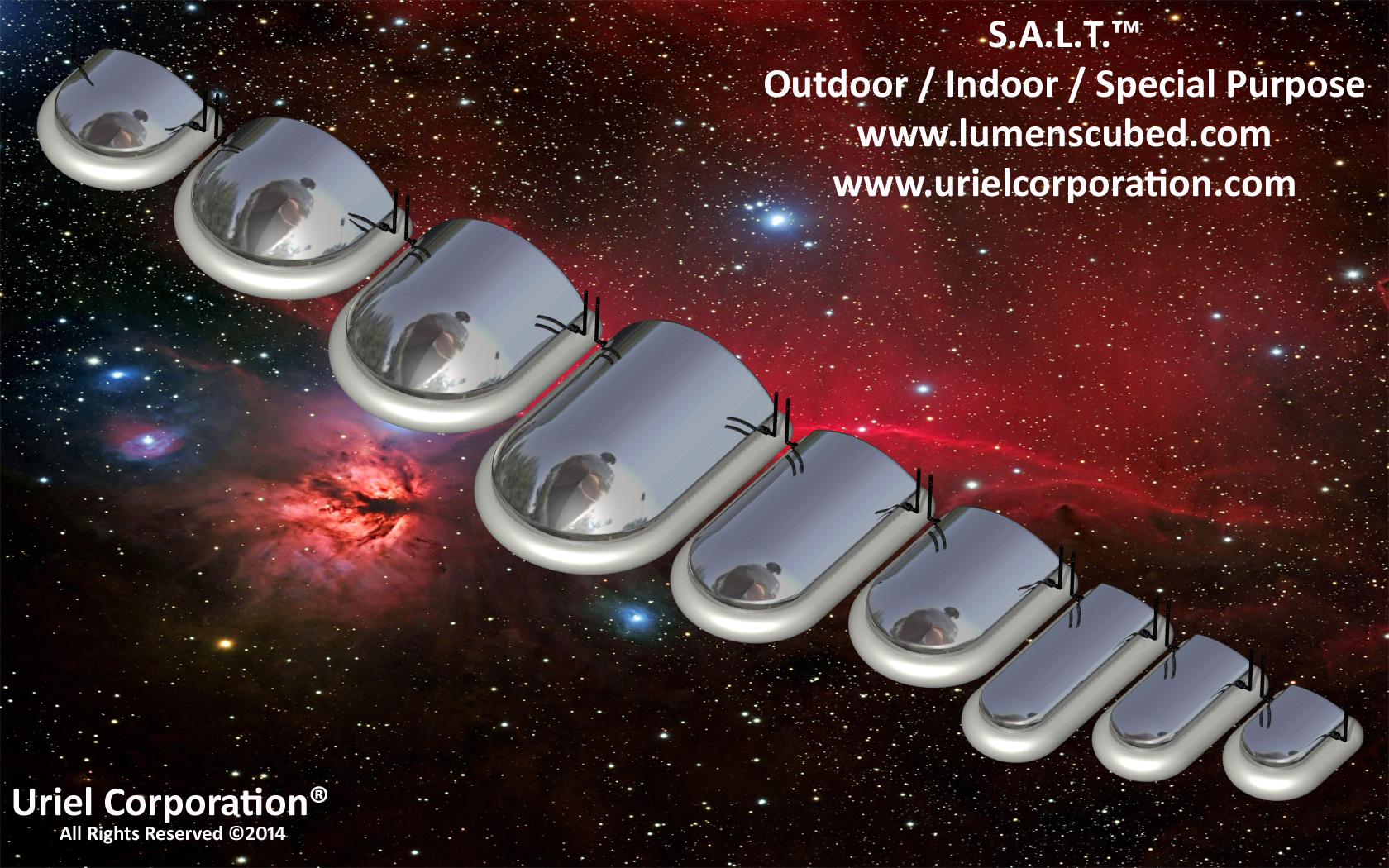 SERVO / STEPPER ASSISTED LIGHTING TECHNOLOGY (S.A.L.T.)™ OUTDOOR-INDOOR-SPECIAL PURPOSE METALLIC LED LIGHTING